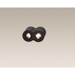 Lubinis šviestuvas BASIC ROUND juodas dvigubas - 3 - 49,30€
