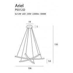 Pakabinamas šviestuvas ARIEL, DIM - 5 - 997,65€