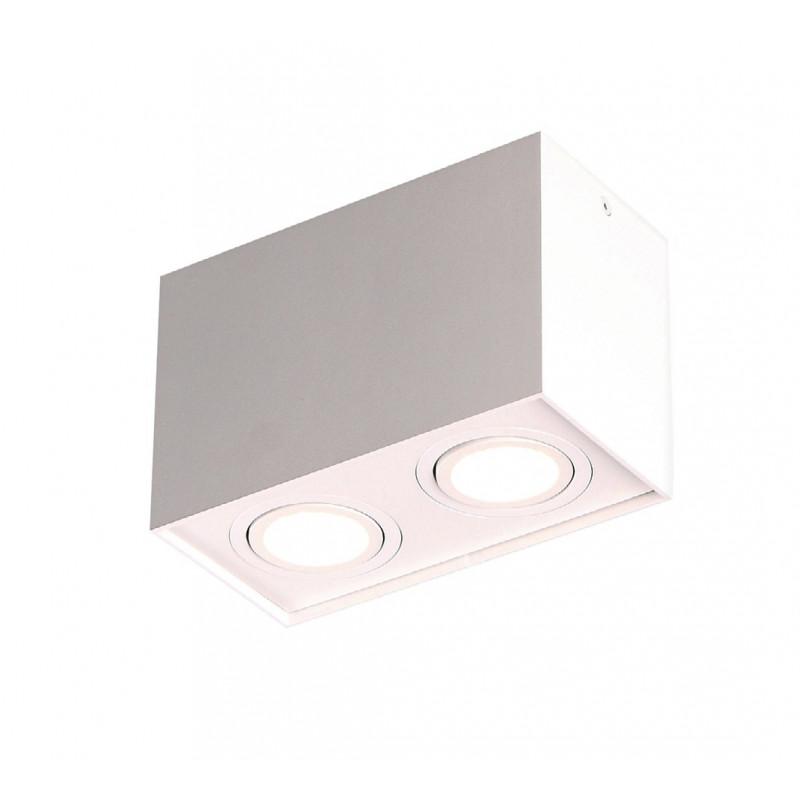 Lubinis šviestuvas BASIC SQUARE baltas dvigubas - 1 - 56,05€