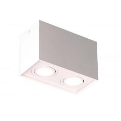 Lubinis šviestuvas BASIC SQUARE baltas dvigubas - 3 - 56,05€