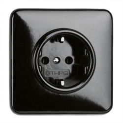 THPG bakelito elektros lizdas su vaikų apsauga ir keturkampiu rėmeliu