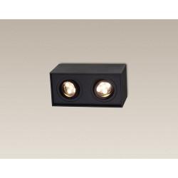 Lubinis šviestuvas BASIC SQUARE juodas dvigubas - 3 - 56,05€