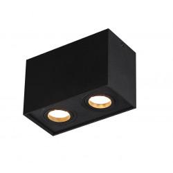 Lubinis šviestuvas BASIC SQUARE juodas dvigubas - 1 - 56,05€