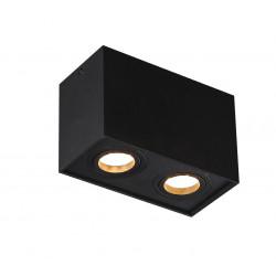 Lubinis šviestuvas BASIC SQUARE juodas dvigubas - 2 - 56,05€