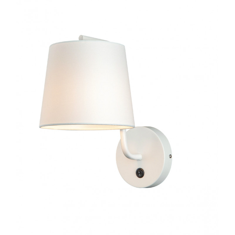 Sieninis šviestuvas CHICAGO baltas su baltu gaubtu - 1 - 58,60€