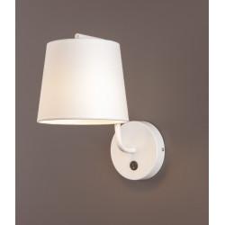Sieninis šviestuvas CHICAGO baltas su baltu gaubtu - 2 - 58,60€