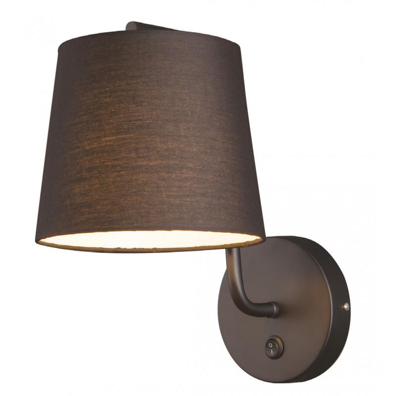 Sieninis šviestuvas CHICAGO juodas su juodu gaubtu - 1 - 58,60€