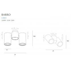 Lubinis šviestuvas BARRO II  baltas - 3 - 72,09€