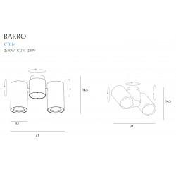 Lubinis šviestuvas BARRO II juodas - 4 - 72,09€