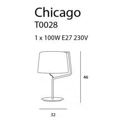 Stalinė lempa CHICAGO baltas su baltu gaubtu - 3 - 99,99€
