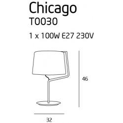 Stalinė lempa CHICAGO CHROM su baltu gaubtu - 3 - 99,99€