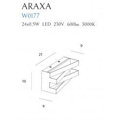 Sieninis šviestuvas ARAXA baltas - 4 - 113,72€