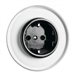 THPG bakelito elektros lizdas su vaikų apsauga ir stikliniu rėmeliu