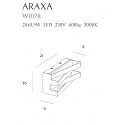 Sieninis šviestuvas ARAXA juodas - 3 - 113,72€