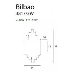 Sieninis šviestuvas BILBAO mažas - 4 - 132,08€