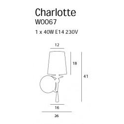 Sieninis šviestuvas CHARLOTTE - 3 - 215,80€