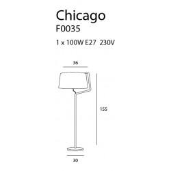 Toršeras CHICAGO baltas su baltu gaubtu - 3 - 255,58€