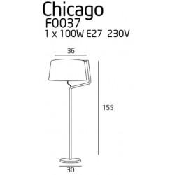 Toršeras CHICAGO CHROM su baltu gaubtu - 3 - 255,58€