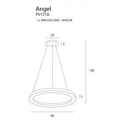 Pakabinamas šviestuvas ANGEL, DIM - 3 - 388,82€
