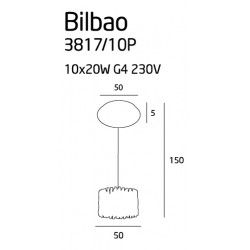Pakabinamas šviestuvas BILBAO mažas CLEAR 50 cm - 6 - 773,23€