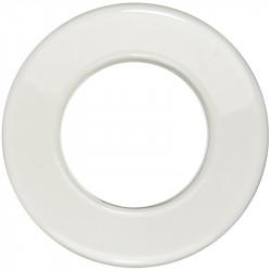 OBZOR Retro vienvietis rėmelis keraminis baltas